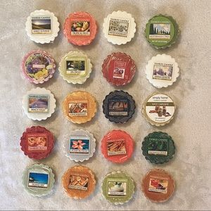 Set Lot of 20 Yankee Candle Wax Melt Tart Warmers